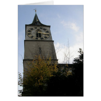 st. peter's clock tower card