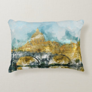 St. Peter's in Vatican City Rome Italy Accent Pillow