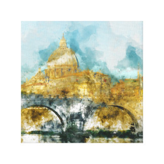 St. Peter's in Vatican City Rome Italy Canvas Print
