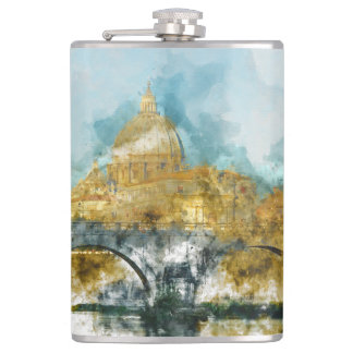 St. Peter's in Vatican City Rome Italy Flask