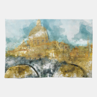 St. Peter's in Vatican City Rome Italy Kitchen Towel