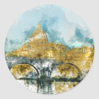 St. Peter's in Vatican City Rome Italy Round Sticker