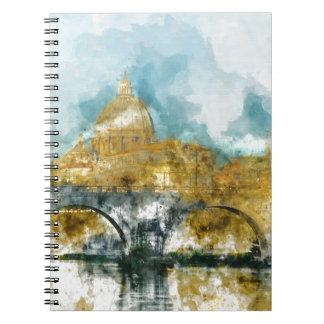 St. Peter's in Vatican City Rome Italy Spiral Note Book