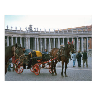 St Peter's Square, Horse and carriage Postcard