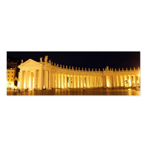 St Peters Square pillars in the evening Business Card Templates