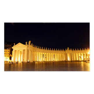 St Peters Square pillars in the evening Business Card