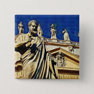 St Peter's Square Rome 2 Inch Square Button