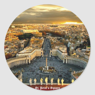 St. Peter's Square, Round Sticker