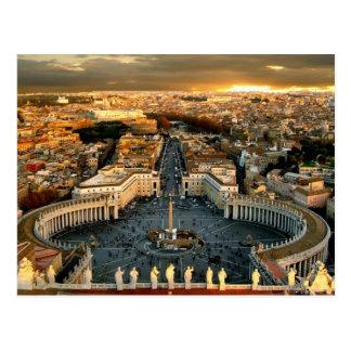 St Peter's Square Vatican Postcard