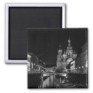 St Petersburg at night Magnet