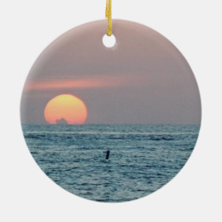 St Petersburg Beach Florida Sunset Ceramic Ornament
