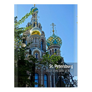 St. Petersburg, Church of the Savior on Blood Postcard