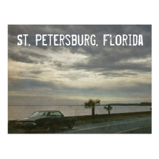 St. Petersburg Florida Retro Car 1969 Postcard