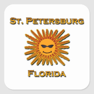 St. Petersburg Florida Sun Logo Square Sticker