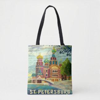 St.petersburg Russia Vintage Travel Vacation Tote Bag