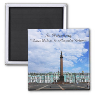 St. Petersburg, Winter Palace & Alexander Column Square Magnet