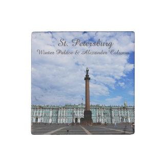 St. Petersburg, Winter Palace & Alexander Column Stone Magnets