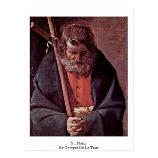 St. Philip By Georges De La Tour Postcard