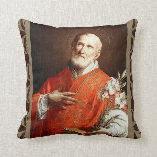 St. Philip Neri Lily Bible Throw Pillow