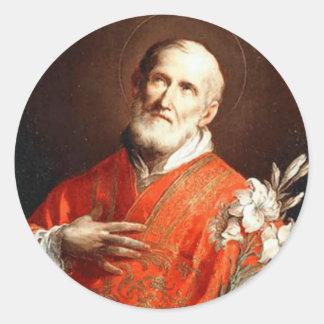 St. Philip Neri Lily Classic Round Sticker