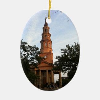 St. Philip's Episcopal Church Charleston Ceramic Ornament