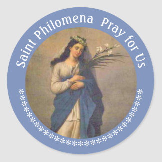 St. Philomena Palm Lilies FEAST AUGUST 10 Classic Round Sticker