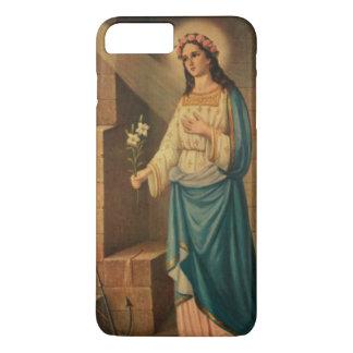 St. Philomena Pink Roses Lily Anchor iPhone 8 Plus/7 Plus Case