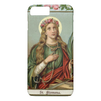 St. Philomena Pink Roses Palm Cord Case-Mate iPhone Case