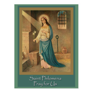 St. Philomena Wonder Worker Feast Day Aug 10 Postcard