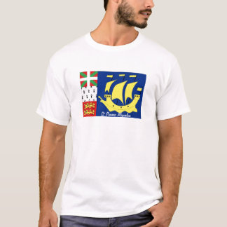 St Pierre and Miquelon flag souvenir tshirt