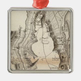 St Pierre Plateau Atlas Map Metal Ornament