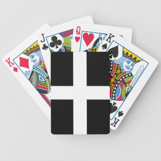 St. Piran's flag / flag of Cornwall Bicycle Playing Cards