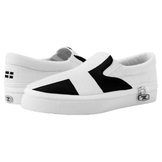 St. Piran's flag / flag of Cornwall Slip-On Sneakers