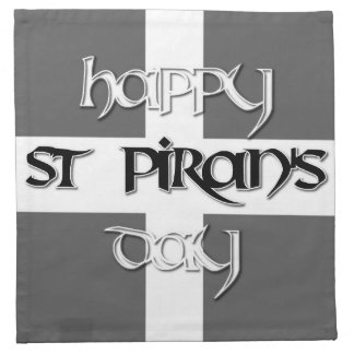 St Piran's Day with Cornish Flag Napkin