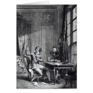 St. Preux Receiving the Portrait of Julie, Card