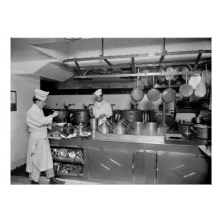 St. Regis Hotel Kitchen, early 1900s Poster