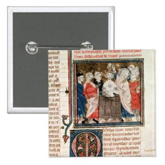 St. Remigius  Bishop of Rheims 2 Inch Square Button