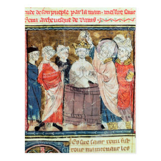 St. Remigius, Bishop of Rheims  baptising Postcard