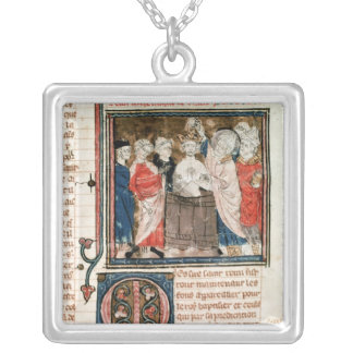 St. Remigius  Bishop of Rheims Silver Plated Necklace