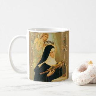 St Rita de Cascia w/Crown d'ange d'épines Mug Blanc