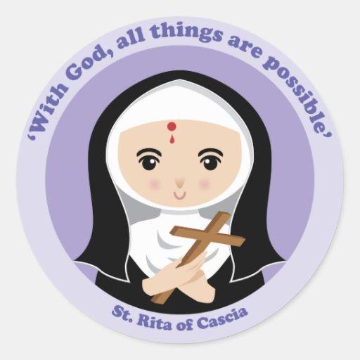 St. Rita of Cascia Sticker