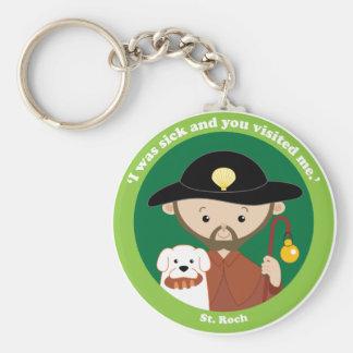 St. Roch Basic Round Button Keychain