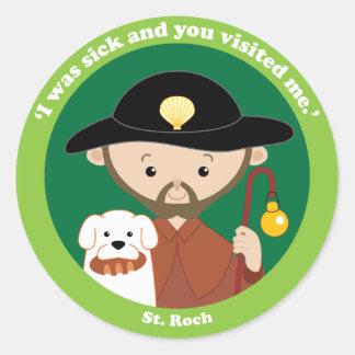 St. Roch Classic Round Sticker