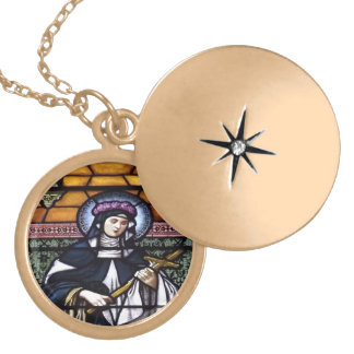 St. Rose of Lima Stained Glass Necklace