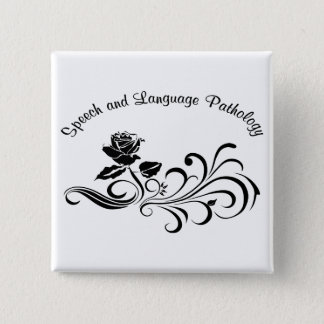st rose scroll black 2 inch square button