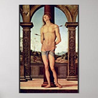 St. Sebastian By Perugino Pietro (Best Quality) Poster
