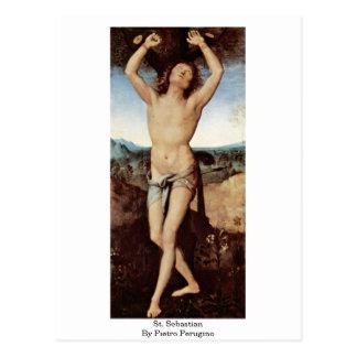 St. Sebastian By Pietro Perugino Postcard