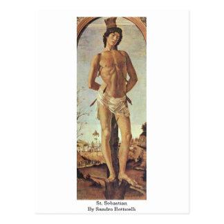 St. Sebastian By Sandro Botticelli Postcard