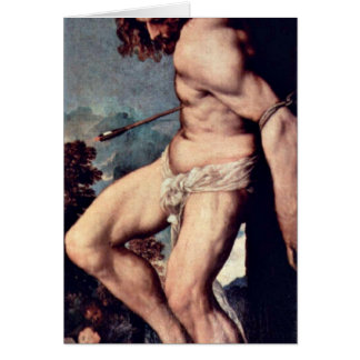 St. Sebastian By Titian Card