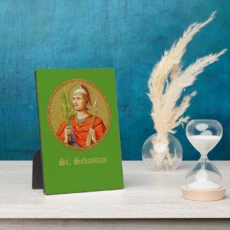 "St. Sebastian (SNV 24) (Round Image) 5""x7"" Plaque"